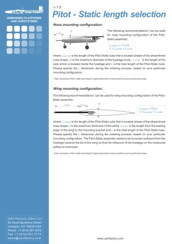 Pitot-Static length selection