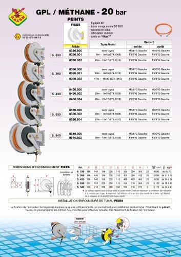 GPL/méthane enrouleurs de tuyau