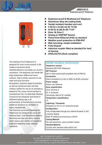 Explosion Proof Telephone - J&R Technology Ltd - Catalogue