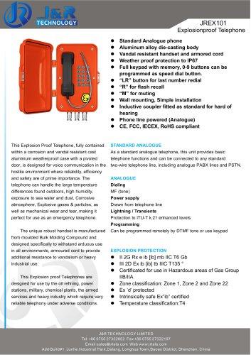 Téléphone anti-déflagrant de mine d'IECEX JREX-01