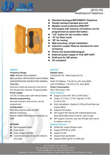 téléphone industriel JR101-FK
