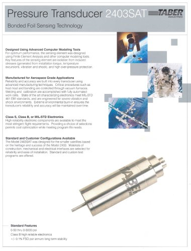 Taber Aerospace Transducers Model 2403SAT