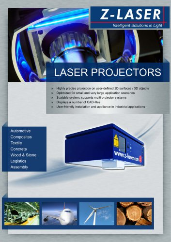 Laser projectors for positioning
