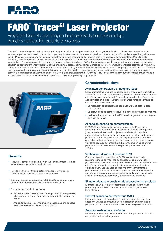 FARO Tracer M Laser Projector - FARO EUROPE - Catalogue PDF ...
