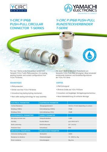 Y-Circ P IP68 Push-Pull Rundsteckverbinder T-Serie