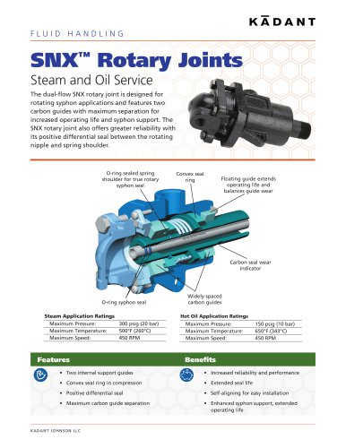 SNX and SX Rotary Joints