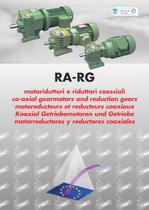 in-line gear reducer Cast iron and aluminium in-line gearboxes, RA and RG series