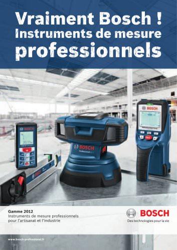 Instruments de mesure bleus professionnels