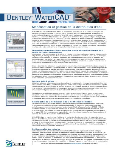Bentley WaterCAD
