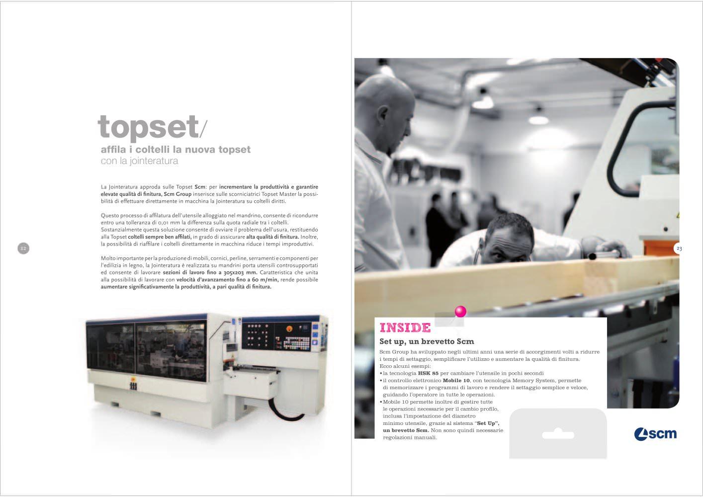 Lavorare Il Legno Pdf : Scm topset scm catalogue pdf documentation technique brochure