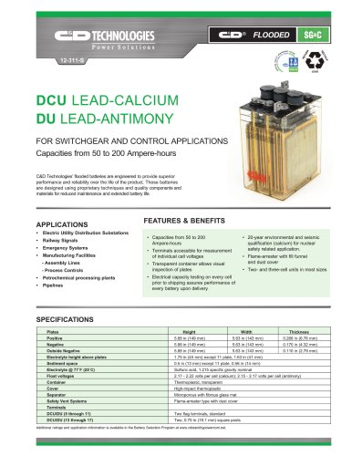 DCU Lead-Calcium / DU Lead-Antimony