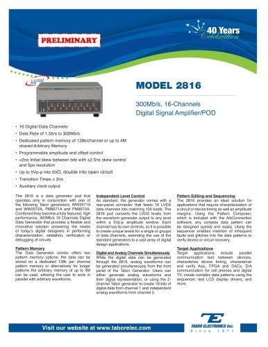 Model 2816 300Mb/s, 16-Channels Digital Signal Amplifier/POD