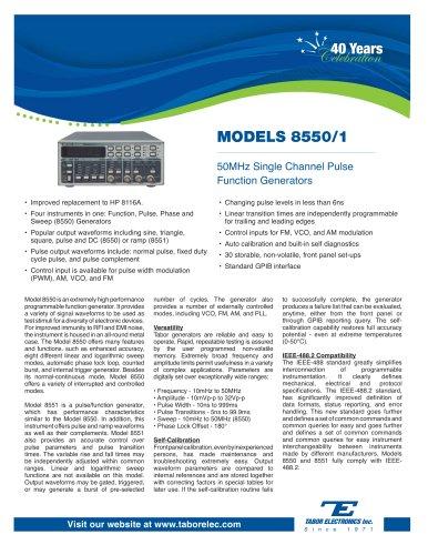 Model 8550/1 50MHz Pulse Function Generators