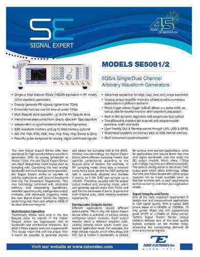 MODELS SE5081/2
