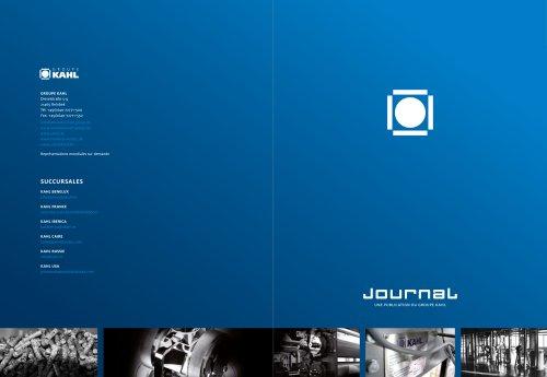 Journal – Développements actuels du Groupe KAHL