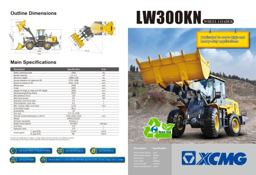 XCMG  loader LW300KN construction