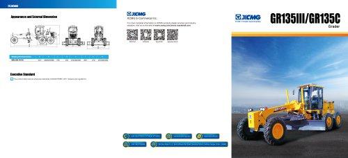 XCMG  moto grader GR135 construction