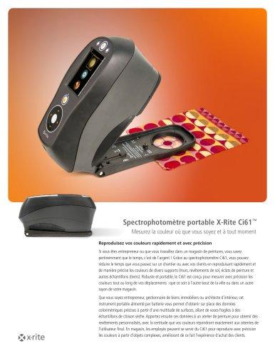 Spectrophotomètre portable X-Rite Ci61™