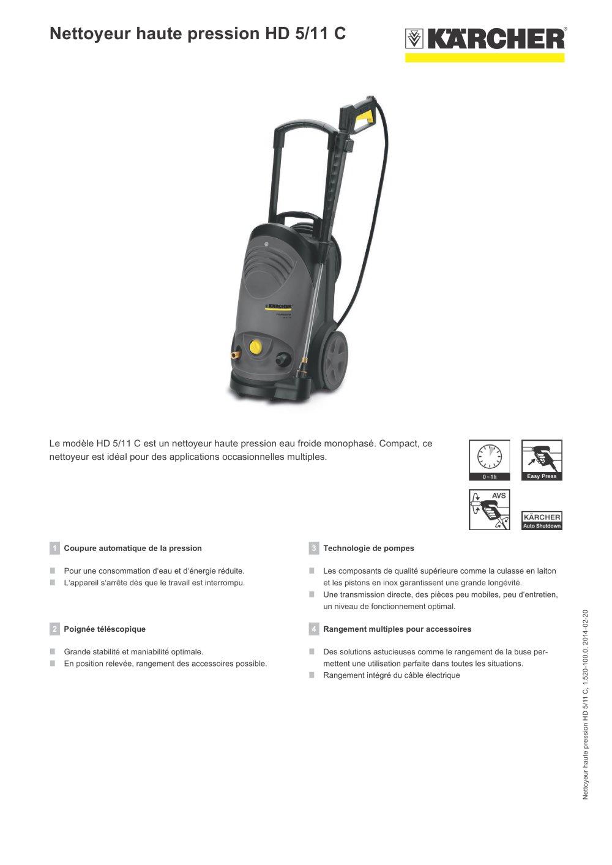 nettoyeur haute pression hd 5 11 c