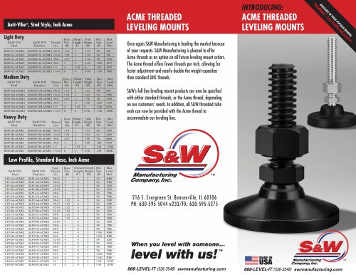 ACME THREADED LEVELING MOUNTS