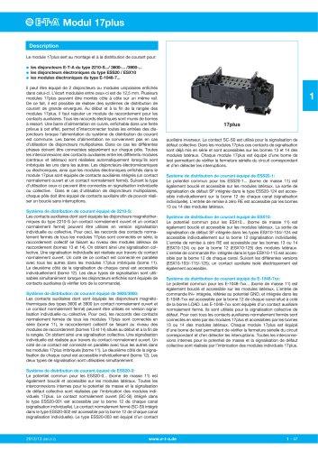 Systèmes de distribution de courant Module 17plus