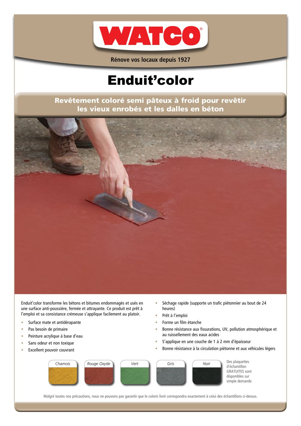 Http://www.watco.fr/ragreage-couleur-enduit-color.html - 1 / 2 Pages