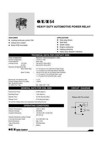 Series 54 automotive relay