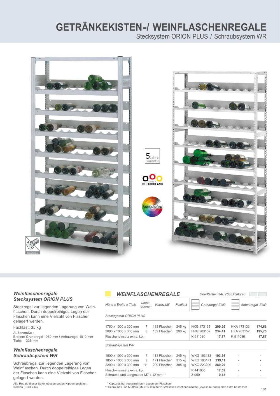 getränkekisten-/ weinflaschenregale - Hofe Regalsysteme - Catalogue ...