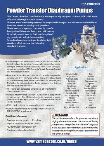 Powder Transfer Diaphragm Pumps