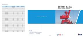 INVT CHV190 Series Special Inverter for Crane catalogue