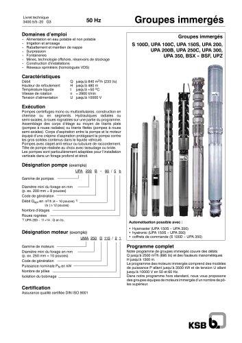 Pompe immergée ksb pdf