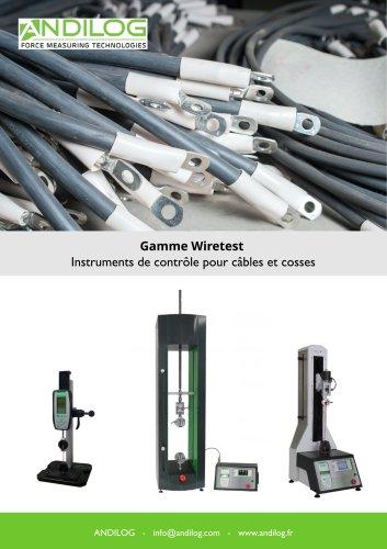 Instruments de contrôle pour câbles et cosses