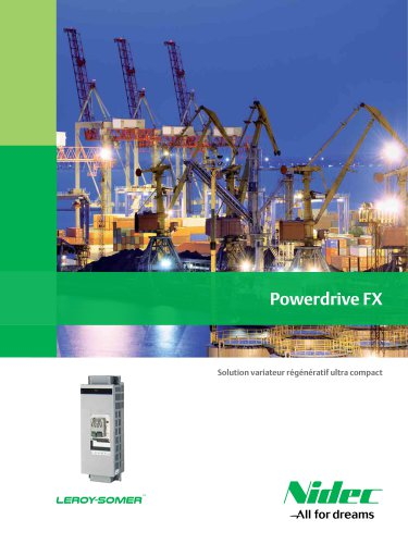 POWERDRIVE FX: Solution variateur régénératif ultra compact