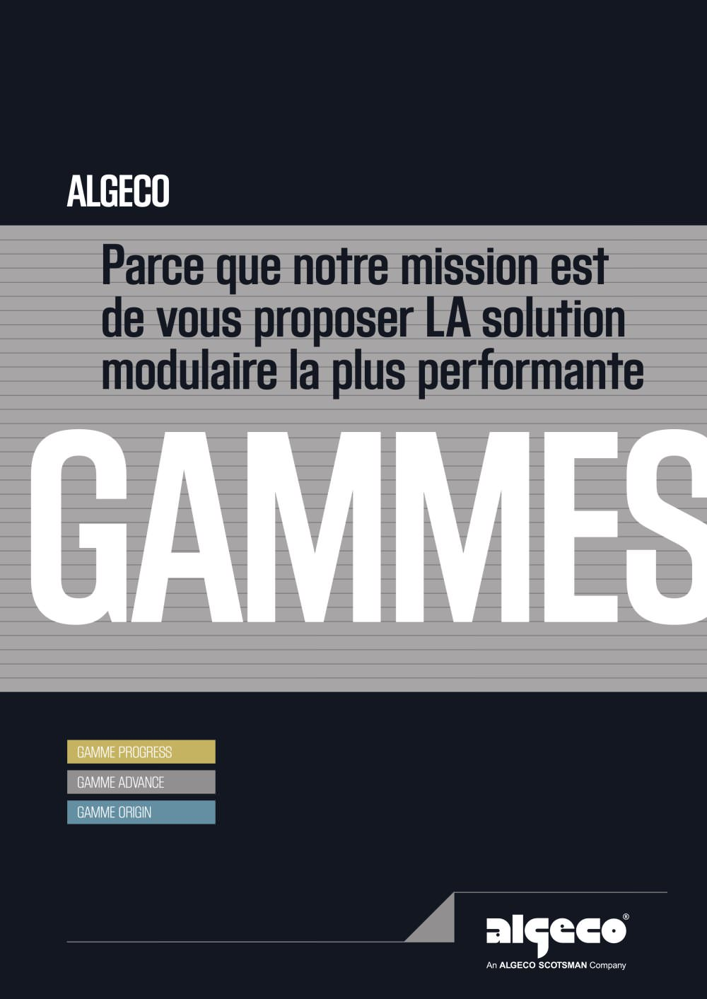 Algeco Tarif concernant brochure - gammes - algeco - catalogue pdf | documentation technique