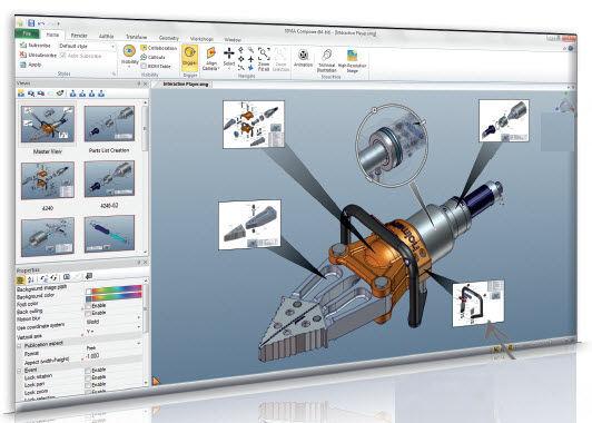 Logiciel De Cao Solidworks Composer Solidworks Europe De Creation De Documentation Produit De Process Pour La Cao