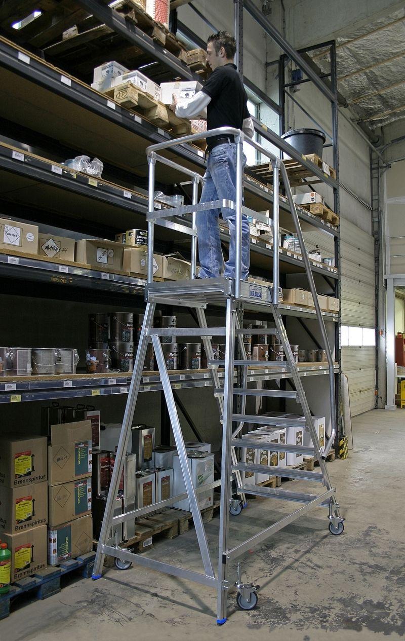 Rampe D Escalier Traduction Anglais Échelle en aluminium / mobile / pour entrepôts - krause-werk