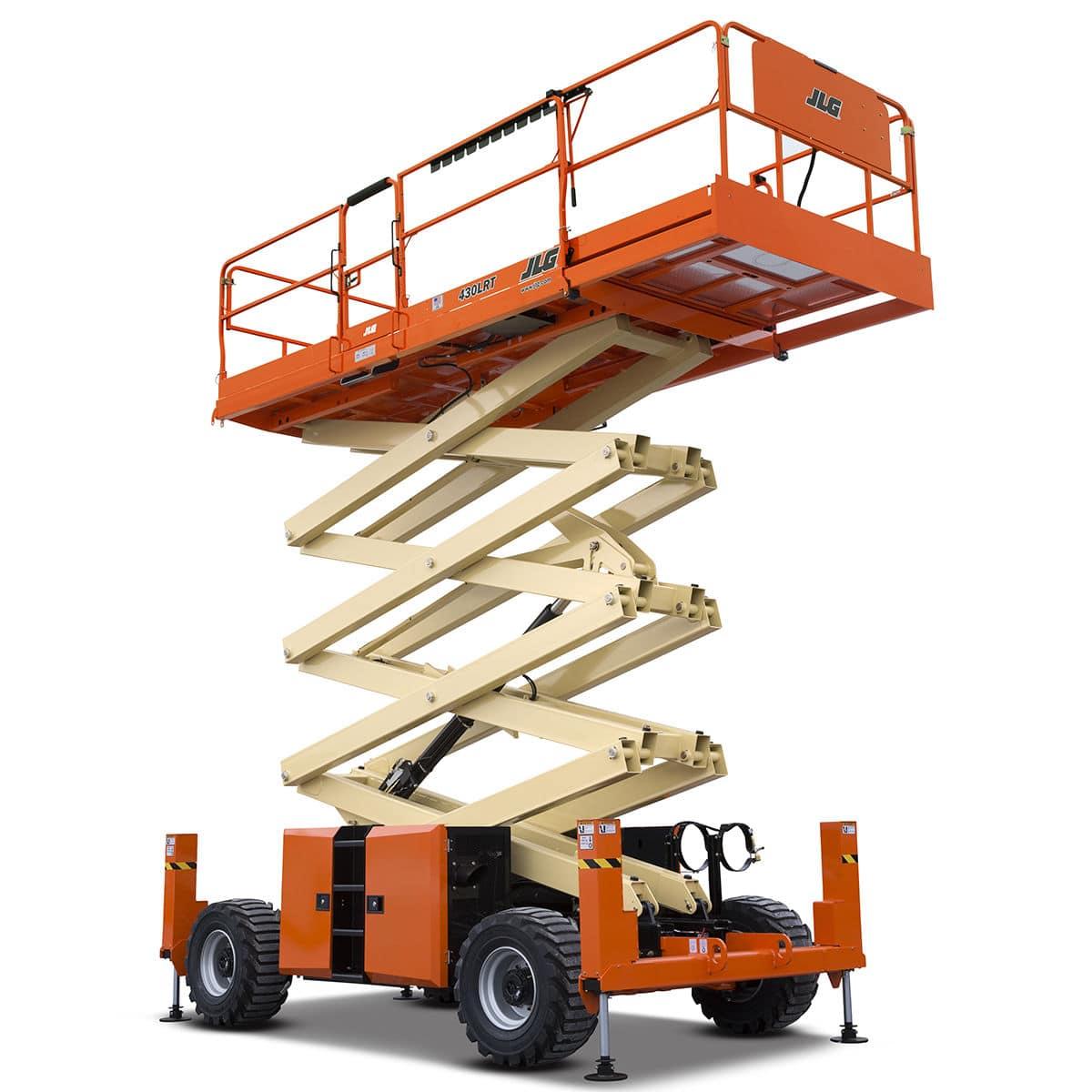 Nacelle élévatrice à ciseaux mobile - 430LRT - JLG Industries Inc. - diesel  / pour usage intérieur et extérieur