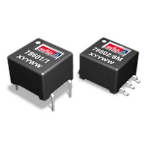 transformateur d'impulsion / encapsulé / pour l'électronique / pour circuit imprimé