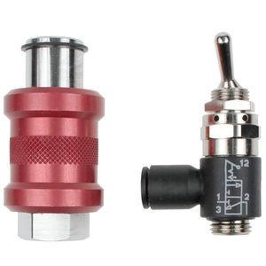 vanne à boisseau sphérique / manuelle / pour gaz / pour air comprimé