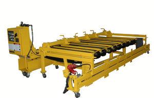 convoyeur à rouleaux / horizontal / à entraînement par courroie