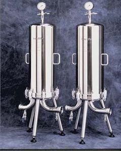 carter de filtre multicartouche / monocartouche / pour boisson / en acier inoxydable
