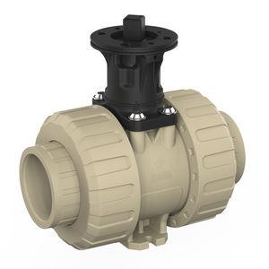 vanne à boisseau sphérique / pour eau potable / modulable / en PP
