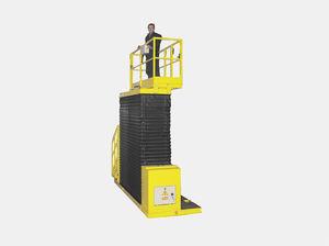 plateforme de travail / suspendue / verticale / électrique
