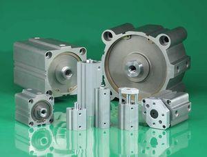 vérin pneumatique / hydraulique / double effet / compact
