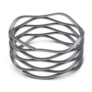 ressort de compression / à fil plat / ondulé / en acier inoxydable