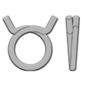 collier de serrage en acier / fil