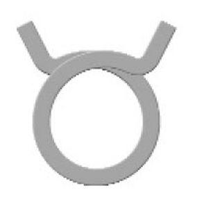 collier de serrage en acier inoxydable / fil