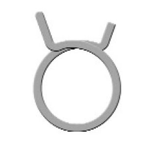 collier de serrage en acier inoxydable / fil / double