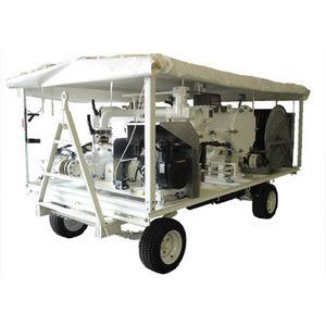 remorque à 2 essieux / pour carburant / de manutention / compacte
