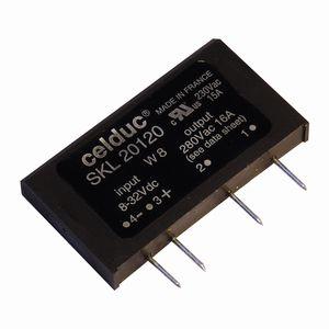 relais statique avec dissipateur thermique / à sortie AC / pour circuit imprimé / monophasé